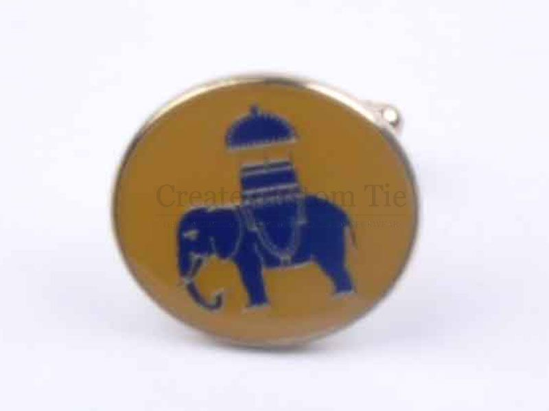 Custom elephant cufflinks
